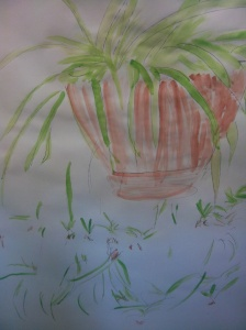painting photo spider plant