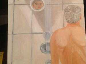 george W. Bush in the Shower